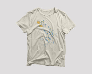off white t-shirt for Mei Mei Boston restaurant with koi fish artwork