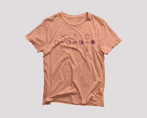 peach t-shirt for Oxomoco NYC restaurant