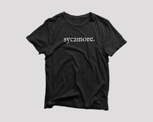 Load image into Gallery viewer, black t-shirt for Sycamore Boston restaurant