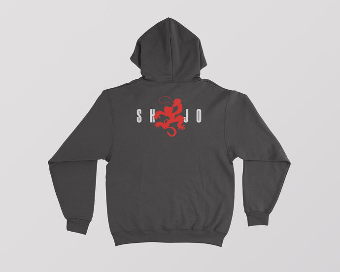 Black Shojo hoodie with Air Jordan monkey design on the back