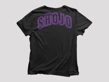 Load image into Gallery viewer, black Shojo t-shirt with purple text