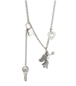 Collar Simple Key Lock Angel