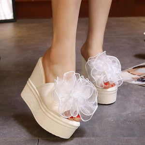 Waterproof Platform Fashion Big Flower