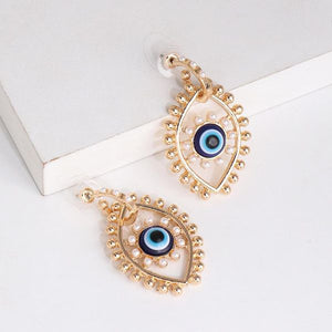 Collar y aretes Devil's Eye