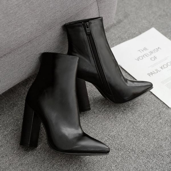 Thick Heel High Heel Boots