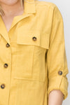 Lemon Linen Button Down