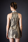 Sequin Gold Cut Out Dress