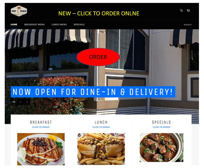 Order Directly at HWY 12 Diner's New Website