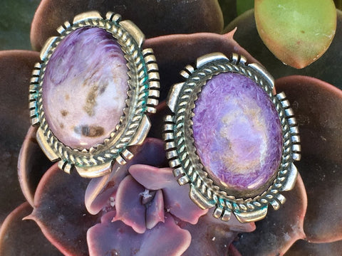 https://yourgreatfinds.net/products/sugilite-sterling-silver-pierced-earrings-purple-turquoise