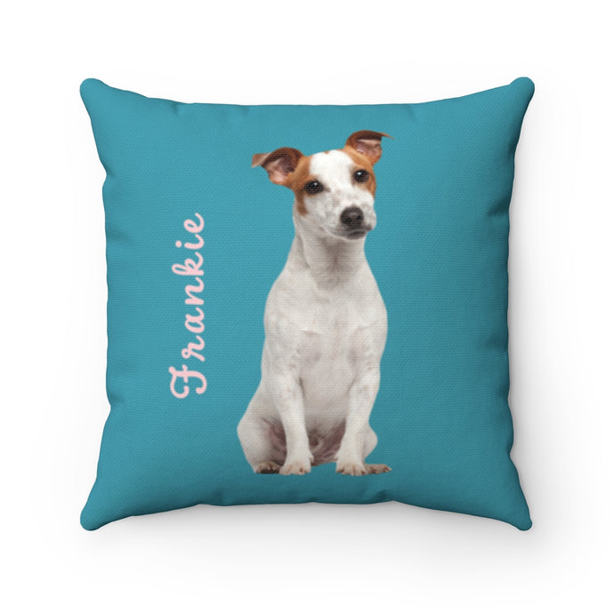 Teal Custom Dog Pillow