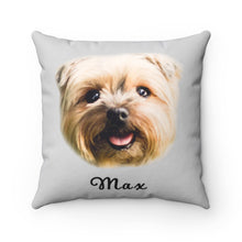 Load image into Gallery viewer, Personalized Dog Face Throw Pillow