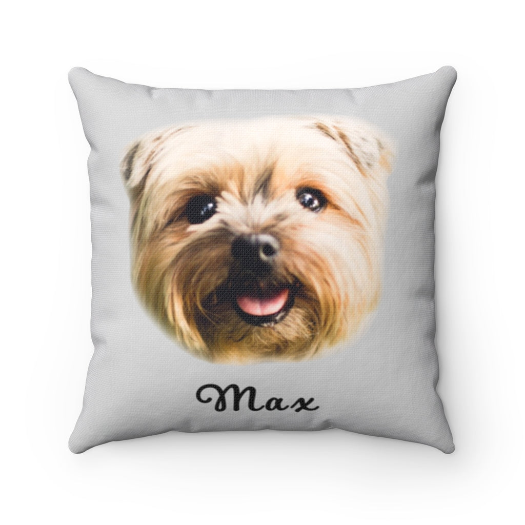 Personalized Dog Face Throw Pillow