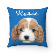 Load image into Gallery viewer, Blue Custom Dog Pillow