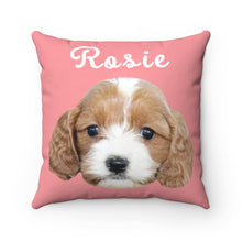 Load image into Gallery viewer, Pink Custom Dog Pillow