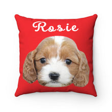 Load image into Gallery viewer, Red Custom Dog Pillow