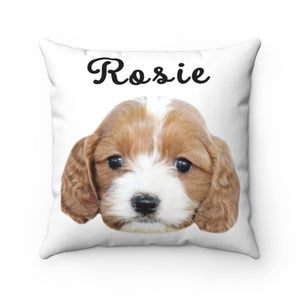 White Custom Dog Pillow