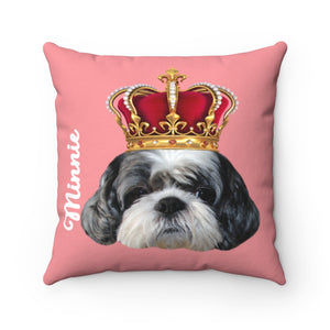 Custom Pet Pillow with Red Crown Halloween Theme