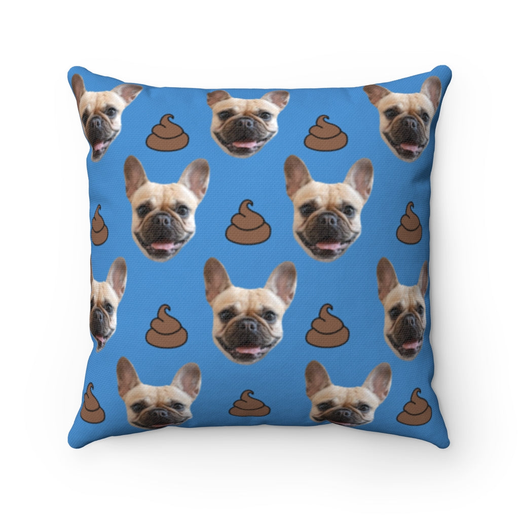 Poop Custom Pet Face Throw Pillow