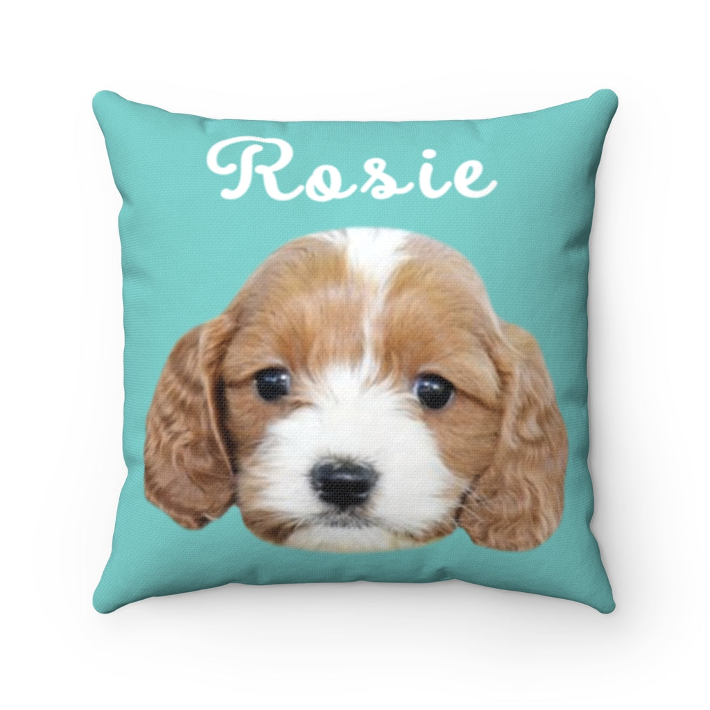 Mint Green Custom Dog Pillow