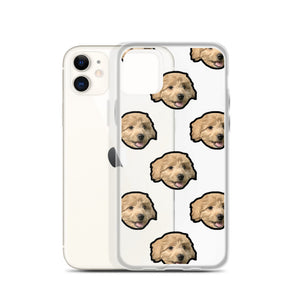 Transparent Custom Dog iPhone Case Multi Face Pattern
