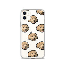 Load image into Gallery viewer, Transparent Custom Dog iPhone Case Multi Face Pattern