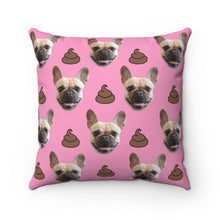 Load image into Gallery viewer, Poop Custom Pet Face Throw Pillow