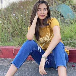 Signature Steady Tee Mustard Yellow