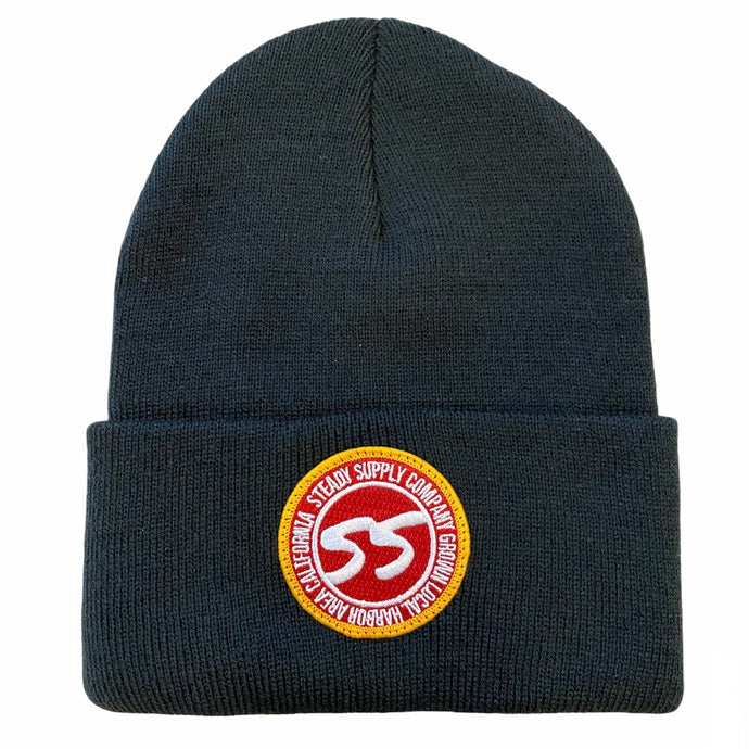 Red Patch Beanie