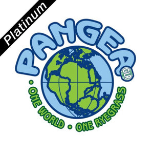 Logo for Platinum Quality Pangea Perennial Ryegrass seed.