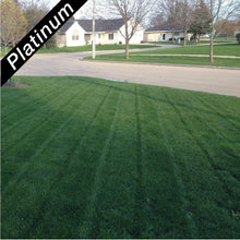Load image into Gallery viewer, Deep green home lawn, grown from Royal Blue Kentucky bluegrass blend, Platinum Quality lawn seed.