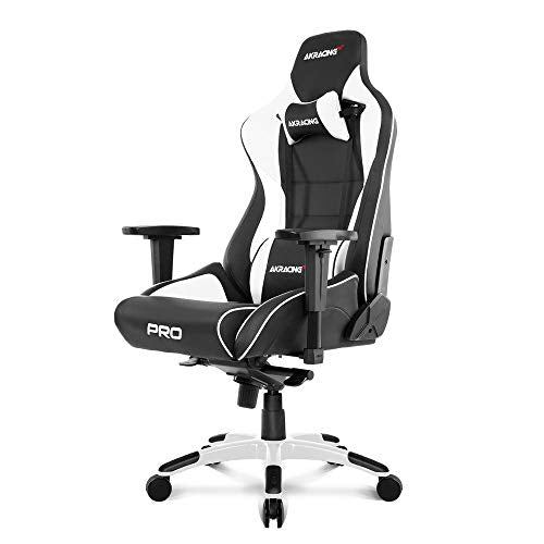 AKRacing Masters Series Pro Luxury XL Gaming Chair with High Backrest, Recliner, Swivel, Tilt, 4D Armrests, Rocker & Seat Height Adjustment Mechanisms, 5/10 Warranty