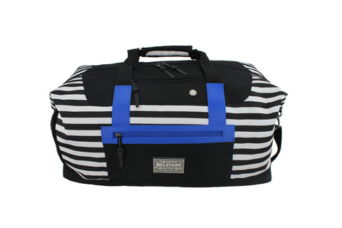 London Striped Duffel Bag