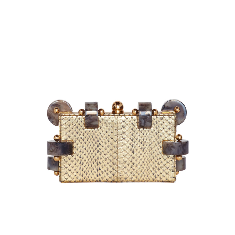 CANDY GOLD SNAKE CLUTCH BAG