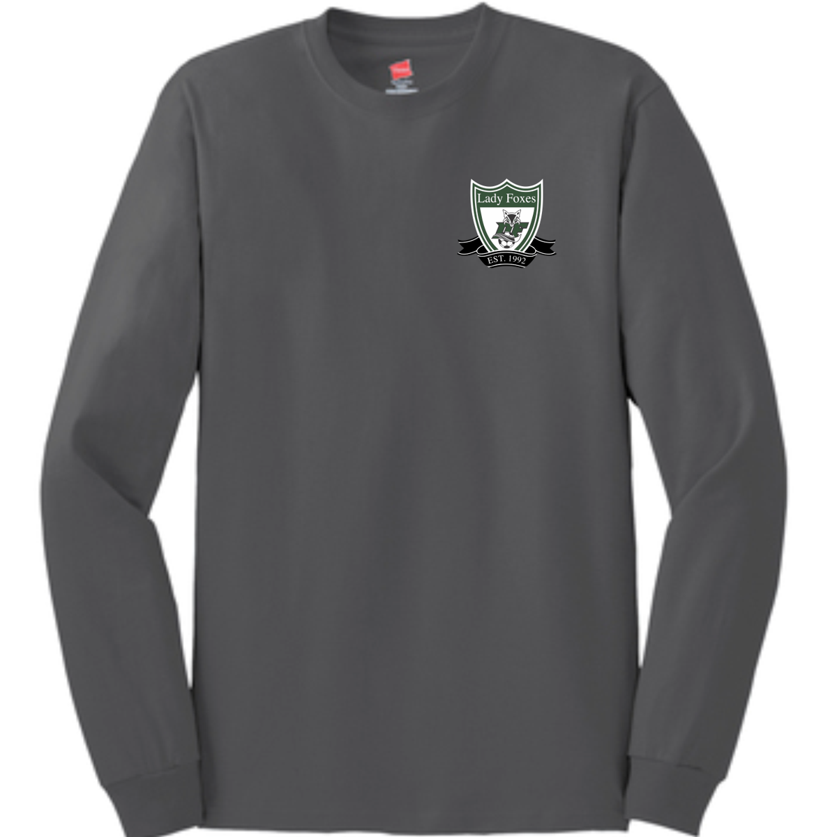 DF Crest LS cotton tee | Smoke