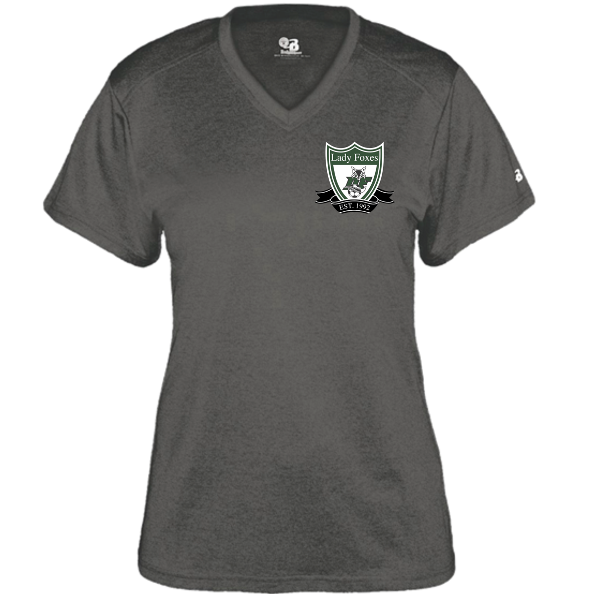 DF Crest LADIES perf. V-neck | Grey