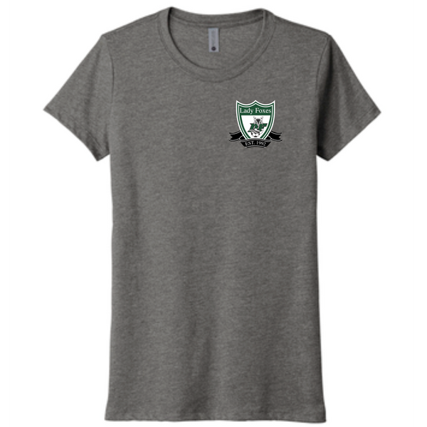 DF Crest LADIES triblend tee | Heather grey