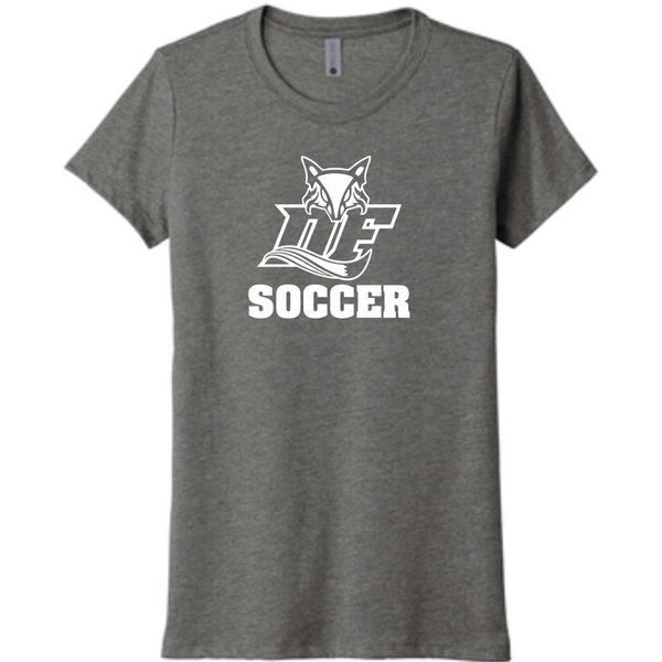 DF Fox LADIES triblend tee | Heather grey