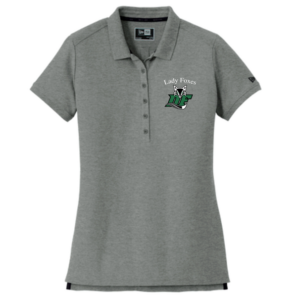 LADIES New Era® Venue Home Plate Polo | Grey