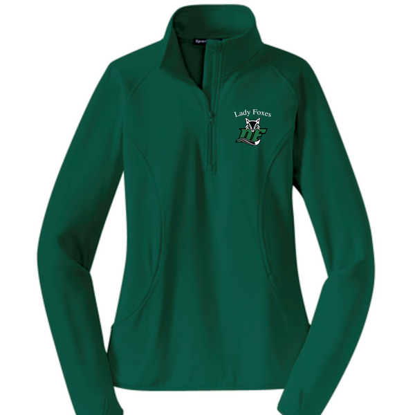 LADIES Sport-Tek® Sport-Wick® Stretch Pullover | Green