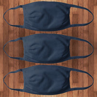 3 Pack | Fitted Cotton Face Cover- navy