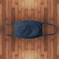 Fitted Cotton Face Cover- navy