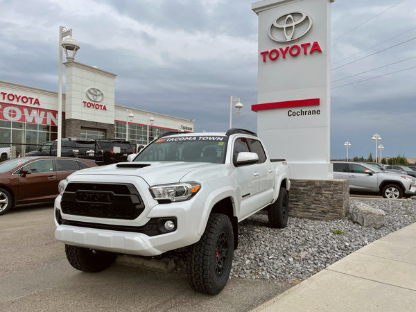 2021 Toyota Tacoma with Tacoma Town decal at Cochrane Toyota