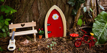 Load image into Gallery viewer, The Irish Fairy Door Company - Red Arch Fairy Door Kit