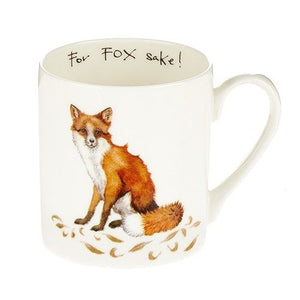 At Home In The Country 'For Fox Sake!' Bone China Mug - Derbyshire Gift Centre