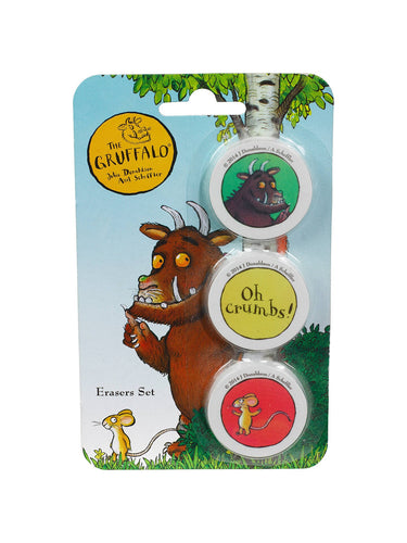 Gruffalo Erasers - Set of 3 - Derbyshire Gift Centre