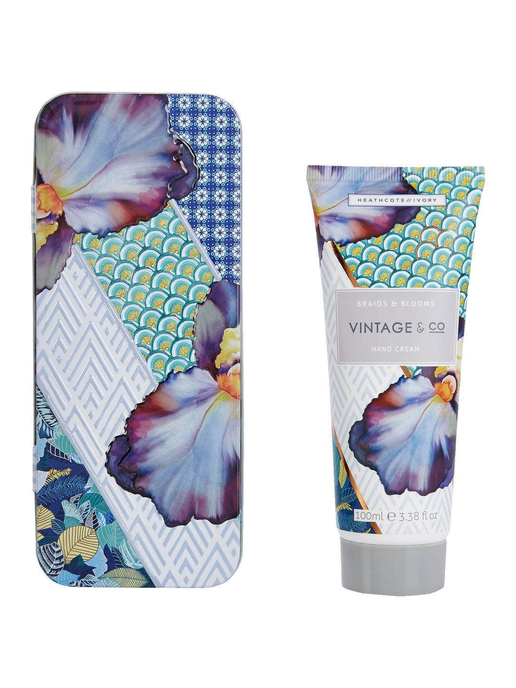 Vintage & Co. 'Braids & Blooms' - Hand Cream in Tin - Derbyshire Gift Centre