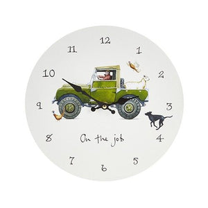 'On The Job' Wall Clock