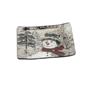 Jolly Snowman Small Rectangular Dish
