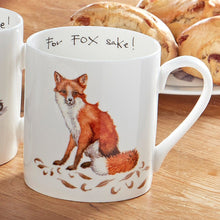 Load image into Gallery viewer, At Home In The Country 'For Fox Sake!' Bone China Mug - Derbyshire Gift Centre