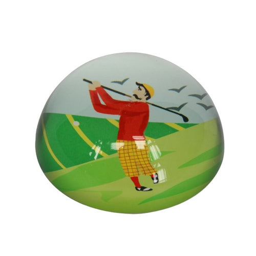 Gisela Graham Golfer Paperweight - Derbyshire Gift Centre